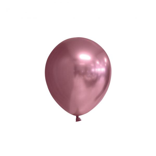 chrome mauve ballonnen 13cm