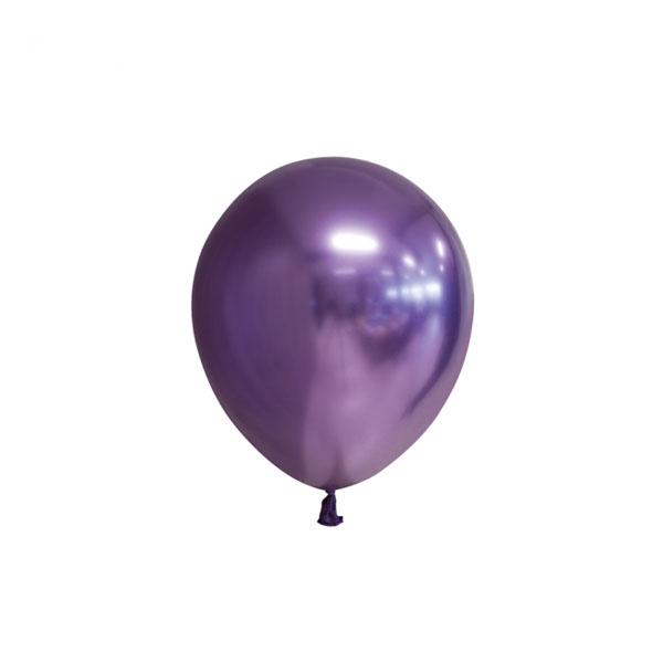 chrome paarse ballonnen 13cm
