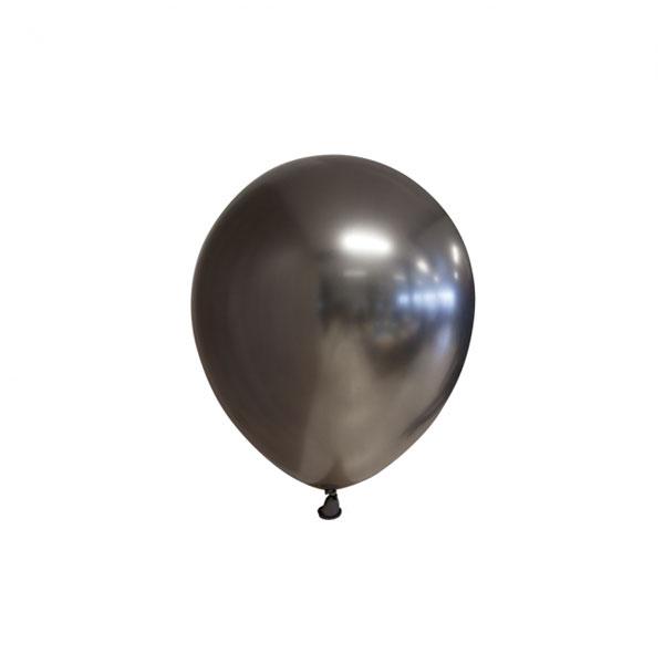 chrome space grey ballonnen 13cm