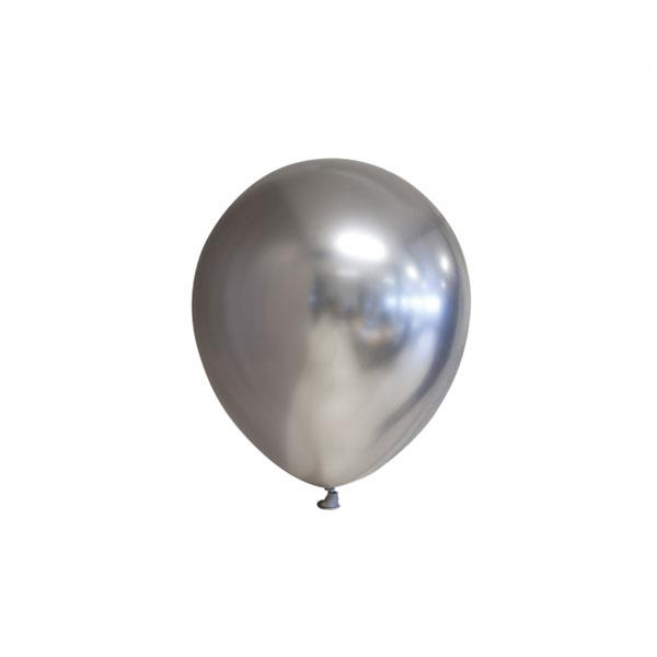 chrome zilveren ballonnen 13cm