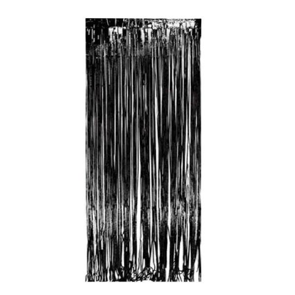 feestgordijn zwart