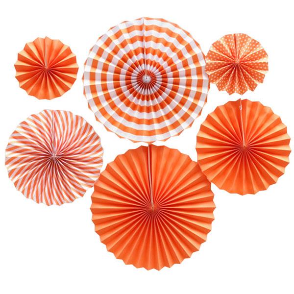papieren waaiers oranje