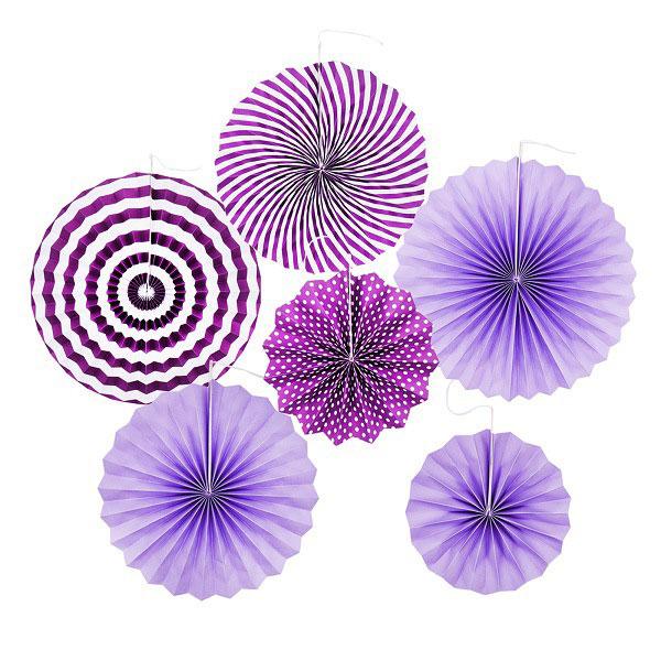 papieren waaiers paars