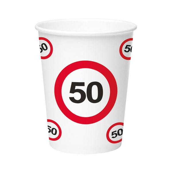 bekers 50 jaar verkeersbord