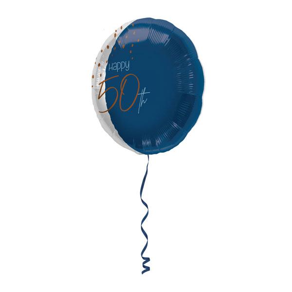 folieballon 50 jaar elegant true blue