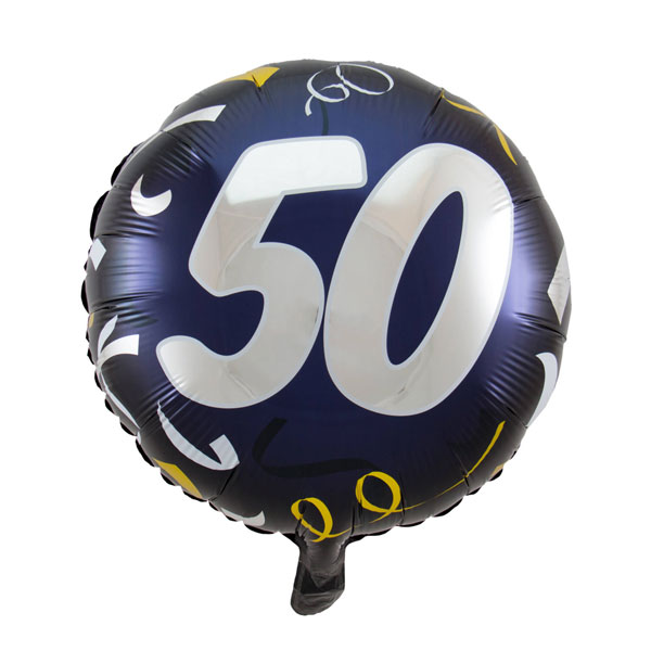 folieballon 50 jaar zwart