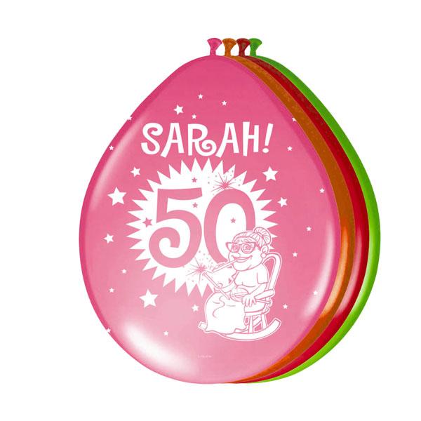 sarah 50 jaar ballonnen