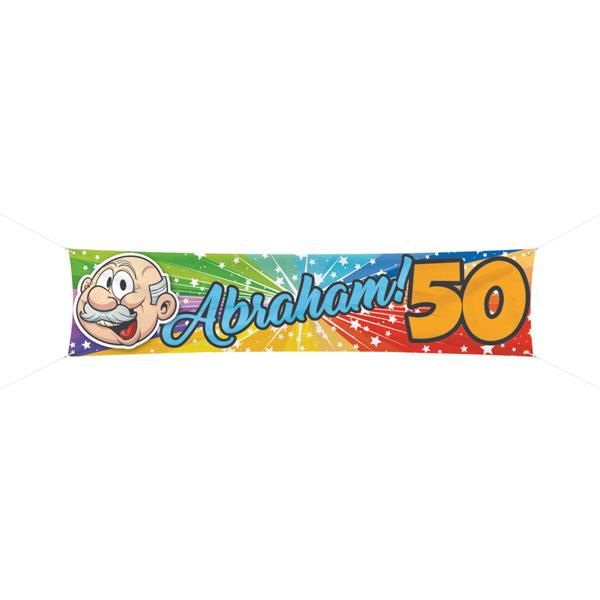 abraham 50 jaar spandoek