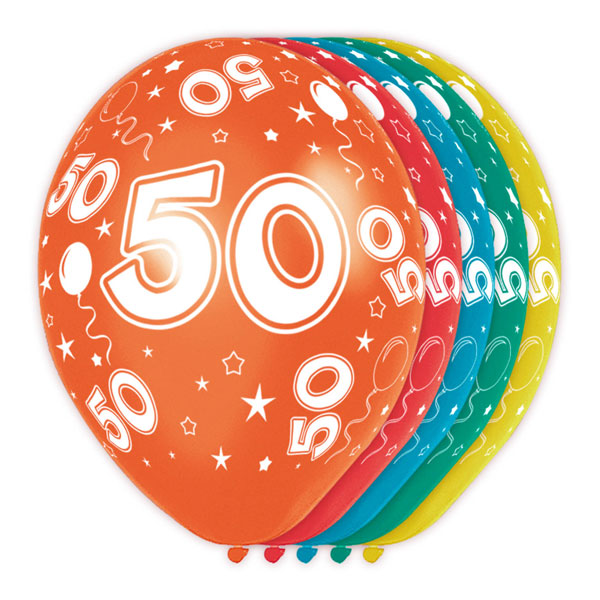 ballonnen 50 jaar gekleurd