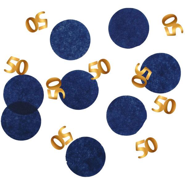 confetti 50 jaar elegant true blue
