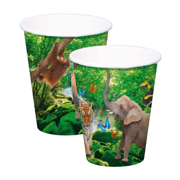 dieren bekers safari 250ml 8 stuks