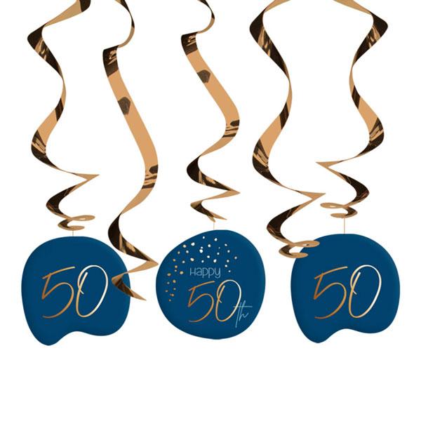 draaiguirlande 50 jaar elegant true blue