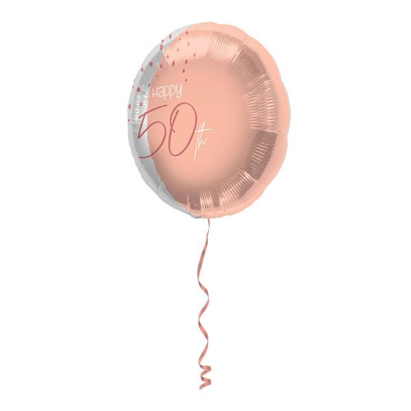 folieballon 50 jaar elegant lush blush