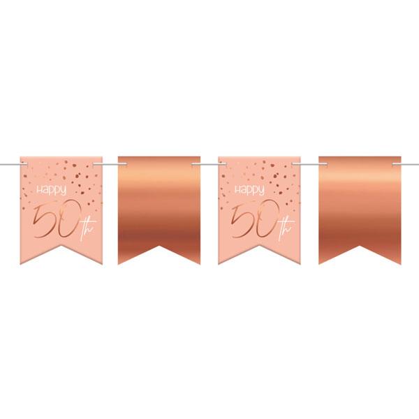 vlaggenlijn 50 jaar elegant lush blush