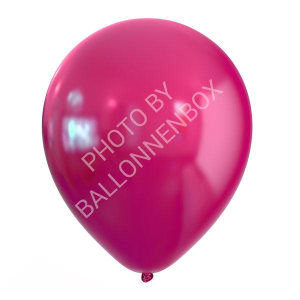 fuchsia roze metallic ballonnen 30cm
